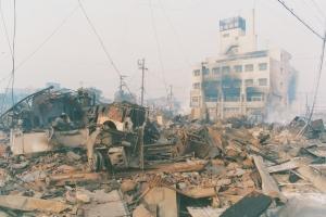長田区海運町 住宅火災の跡(19950118)