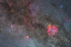 IC1396付近の星野