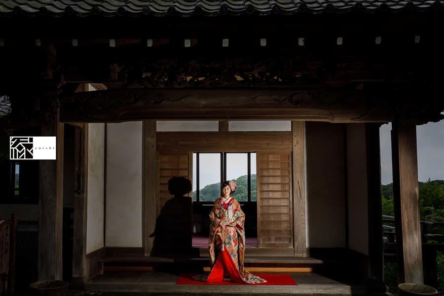和装アレンジ前撮りフォト婚鎌倉縁09