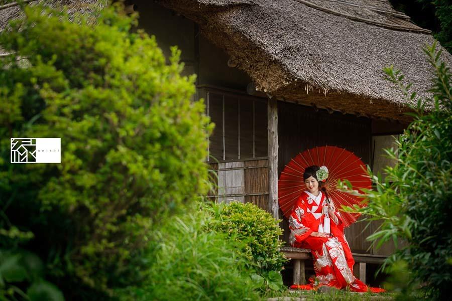 和装アレンジ前撮りフォト婚鎌倉縁12