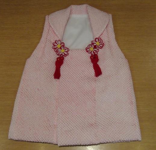 ピンク絞り被布