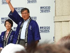 鈴木藤沢市長。元気いっぱい!