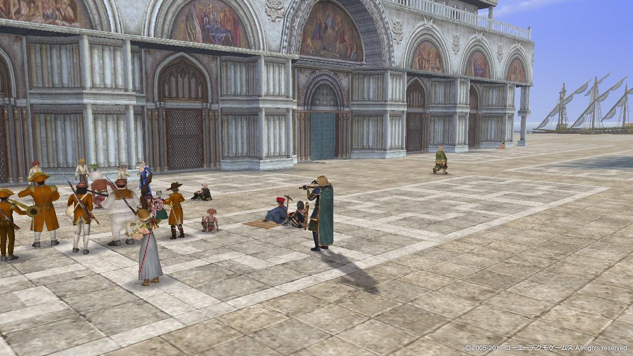 ヴェネツィアのサンマルコ宮殿前にて