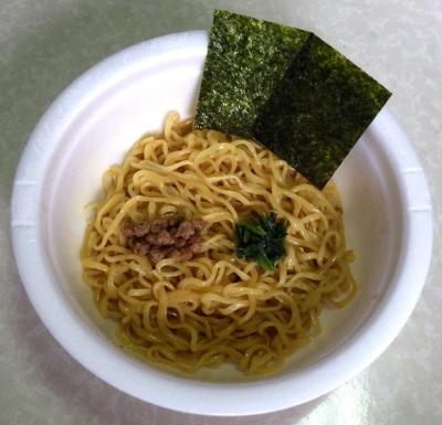 7/10発売 汁なし!! 横浜家系豚骨しょうゆラーメン(できあがり)