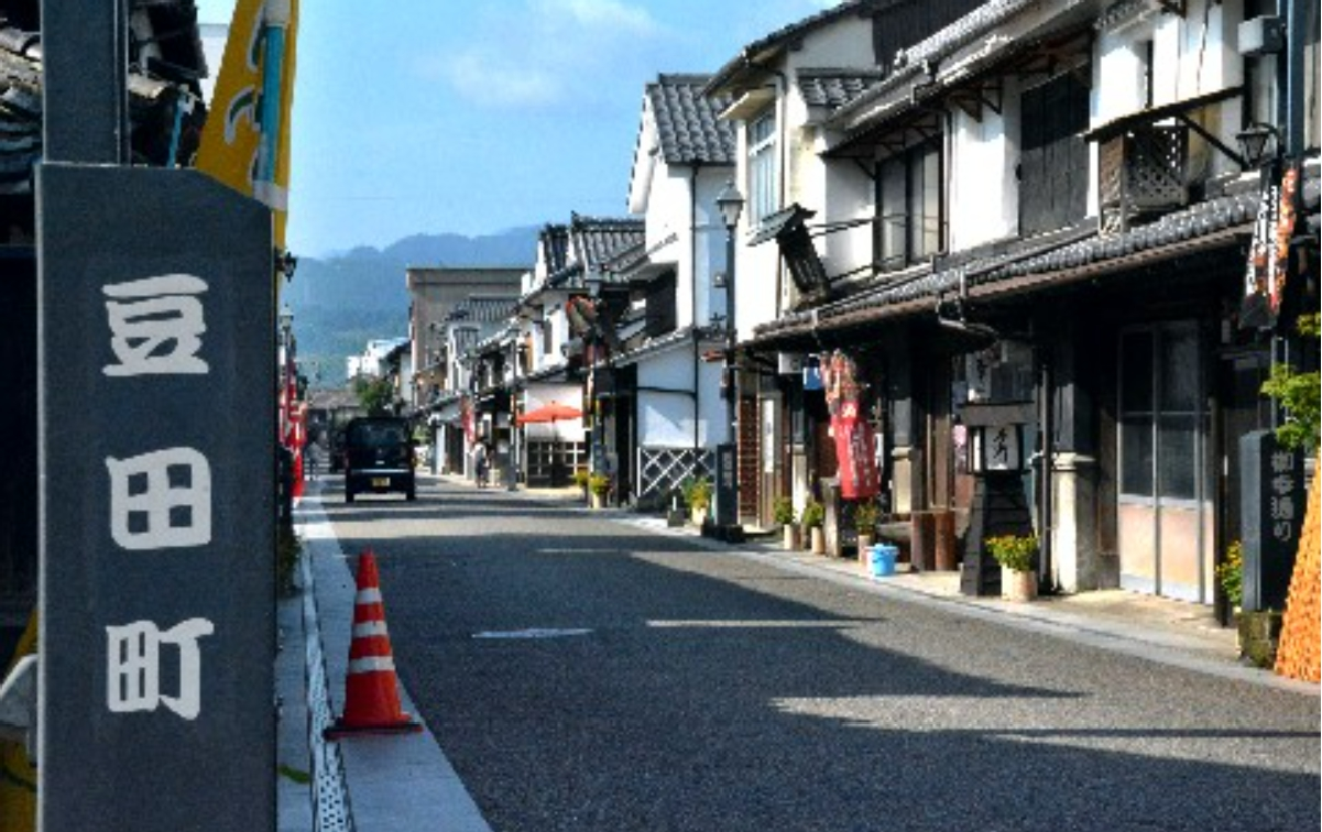 古い町並みが人気の豆田地区