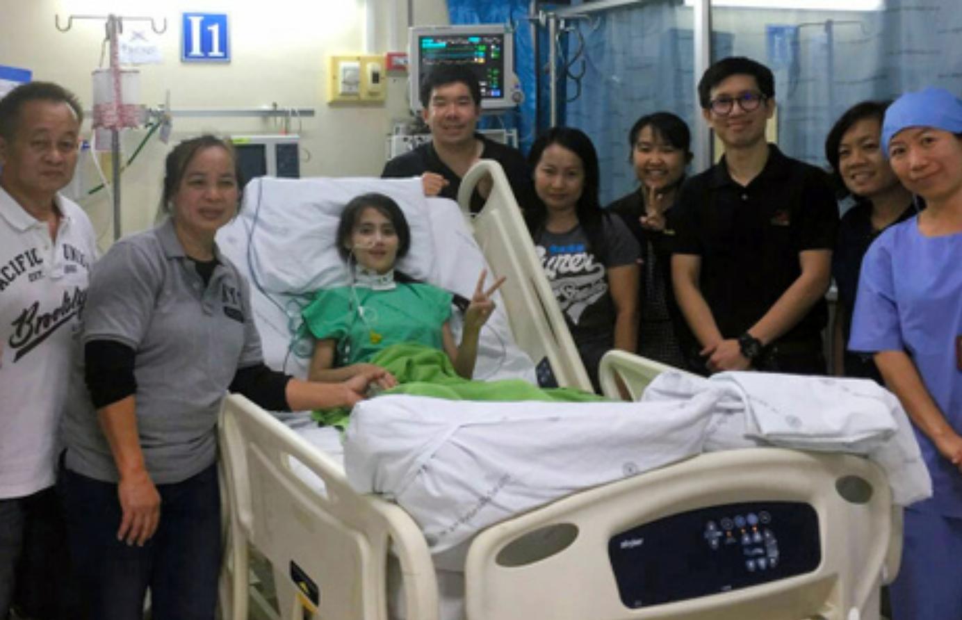 治療を終えてタイに帰国したワンウィサさん