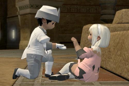 手を取り合う二人
