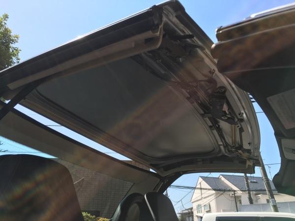 天井張替え ベンツSLK32 AMG