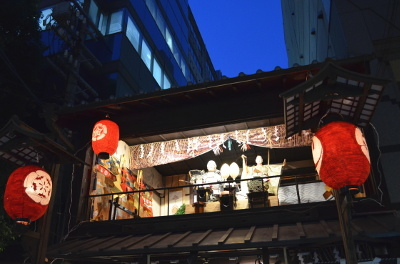 夜の橋弁慶山会所