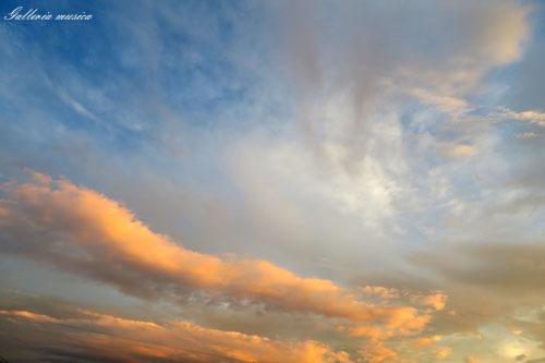 台風通過中の夕焼け。1