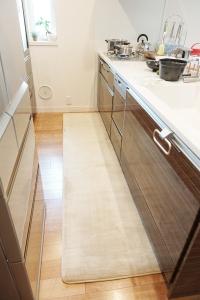 高反発フランネル おすすめキッチンマット Cafca カフカ/60×240cm画像2
