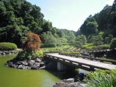 西山荘への途中庭園170714