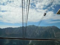 ロープウエー山頂から笠岳170826