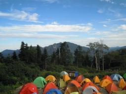 キャンプ場には色とりどりの170827
