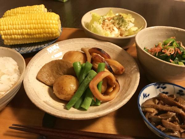 Jun29_黒はんぺんとイカの甘辛煮