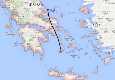 ミロスからアロニソスへのルート