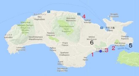 サモスビーチマップ
