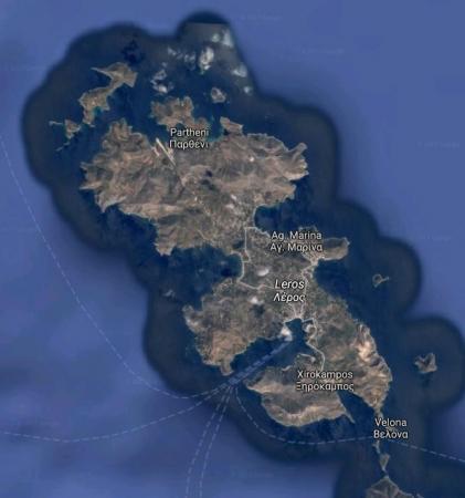 レロス島地図