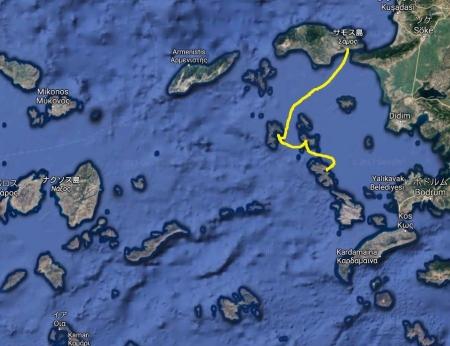 サモス島からレロス島へ