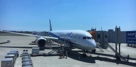 ANA28便 ボーイング787の便です