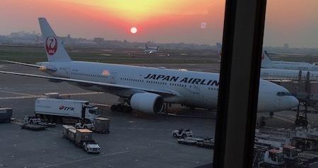 羽田空港JALダイヤモンド・プレミアラウンジ JALの飛行機