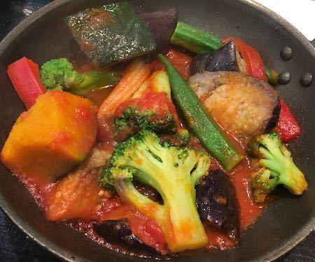 吉野家HD ベジ牛定食 メインの野菜たち