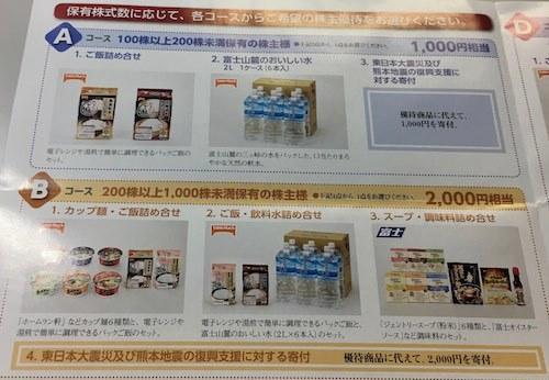 日本たばこ産業 1,000円~2,000円相当の株主優待