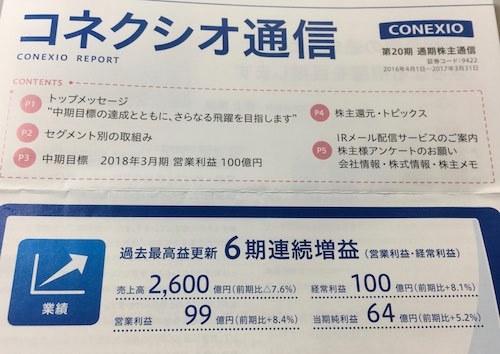 コネクシオ 2017年3月期 コネクシオ通信