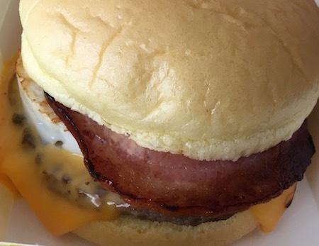 日本マクドナルド 満月チーズ月見バーガー