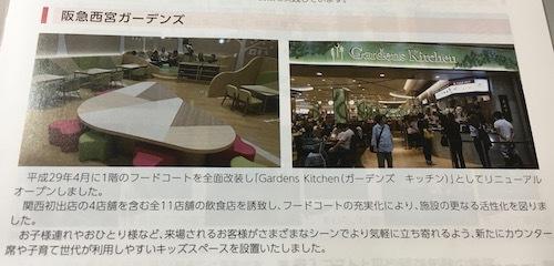 阪急リート投資法人 西宮ガーデンズのフードコートリニューアル