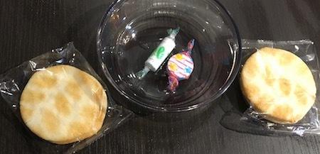 イオンモール神戸南のイオンラウンジ 今回のお菓子