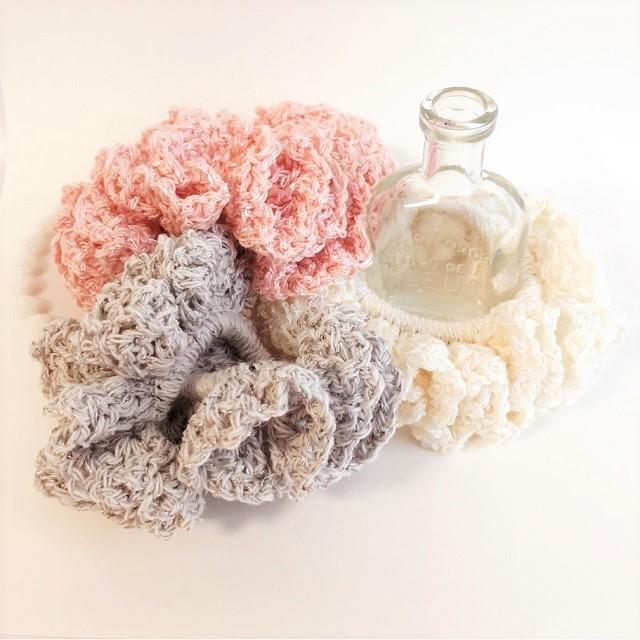 手編み雑貨 HanahanD ヘアアクセサリー シュシュ