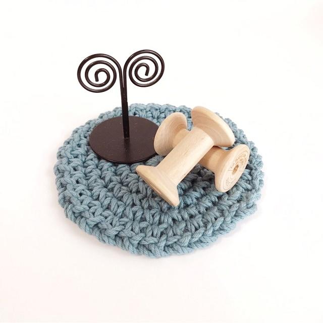 手編み雑貨 HanahanD コットンシンプルコースター キッチン&リビング