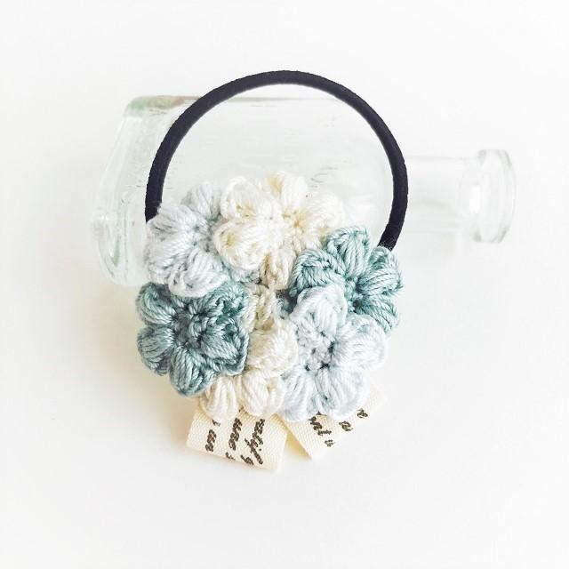 HanahanD 手編み雑貨 ヘアゴム ヘアアクセサリー レース