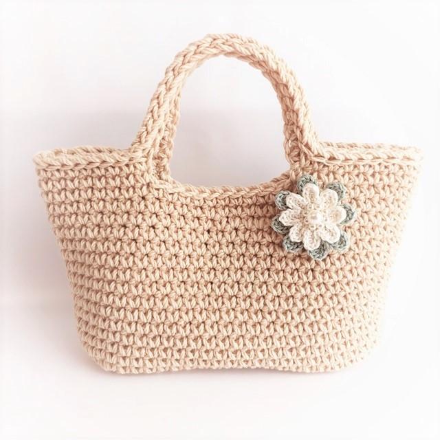 HanahanD 手編み雑貨 ブローチ マーガレット