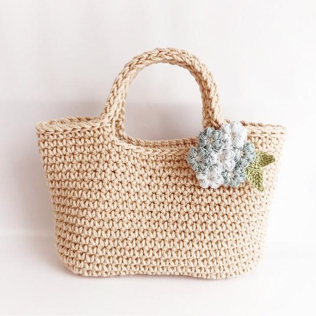手編み雑貨 HanahanD アジサイ ブローチ レース糸