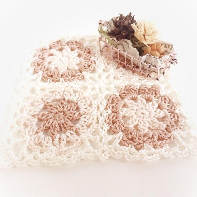 手編み雑貨 HanahanD 手編みレースのドイリー、コースター