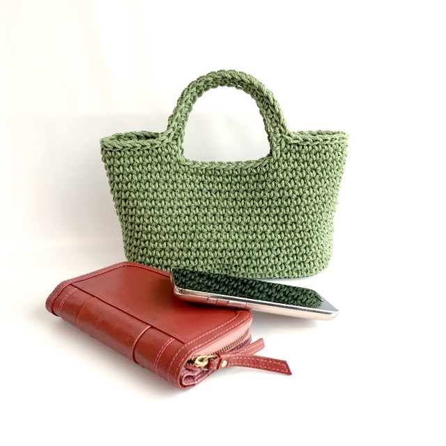 HanahanD 手編み雑貨 ハンドバッグ かばん