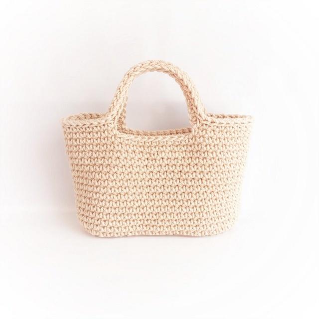 手編み雑貨 HanahanD コットン ハンドバッグ バッグ