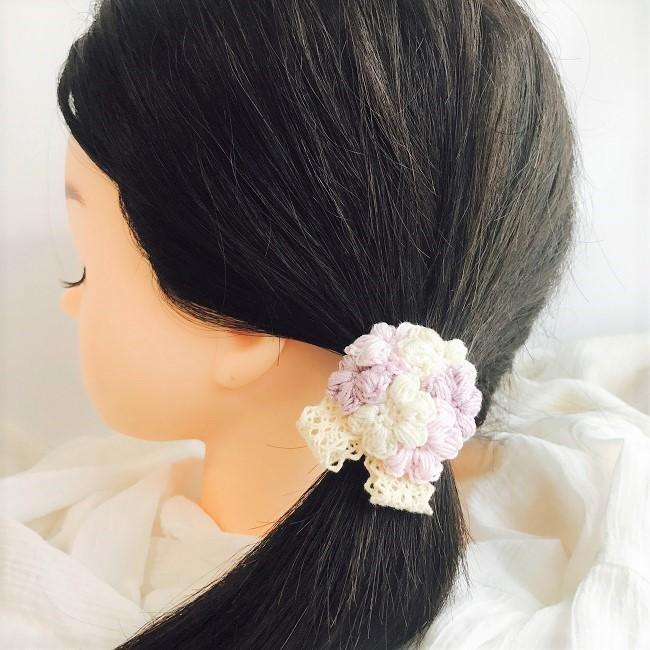HanahanD 手編み レース ヘアゴム 花 オンラインショップ