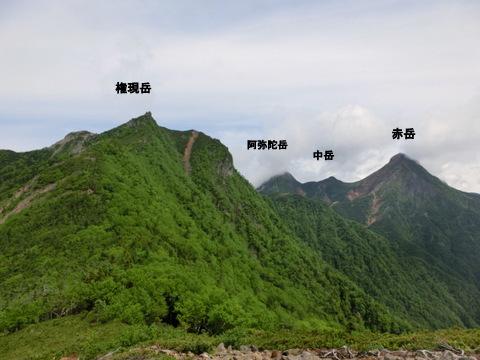 権現岳 赤岳中岳阿弥陀岳