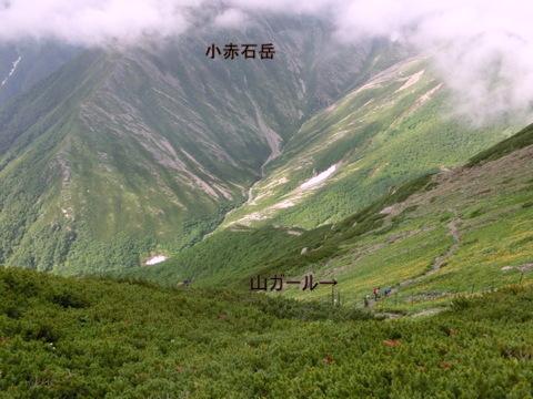 小赤石と山ガール