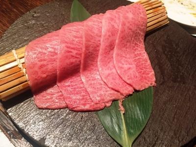 170809ヤキニク旭コース12500円和牛ミスジの出汁おろし