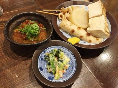 170506なじみ野大阪駅前第2ビル店おでん一品150円で豆腐や牛すじは2個150円