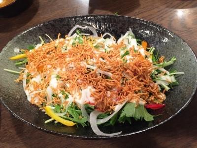 170517よし富水菜のサラダ380円