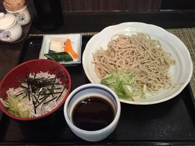170603そば処長澤選べるミニ丼セット550円しらす丼
