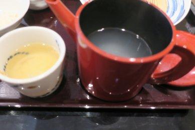 昔風の蕎麦湯