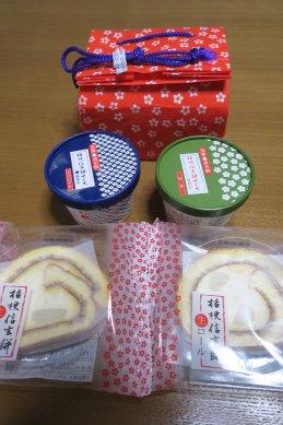 桔梗屋のお菓子3種