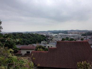 能見堂下からの眺め「金沢勝概一覧之図」