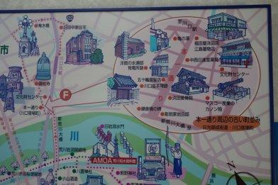 川口宿本一通り界隈の図